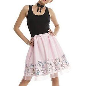 Midnight Hour black and pink tutu / leotard dress